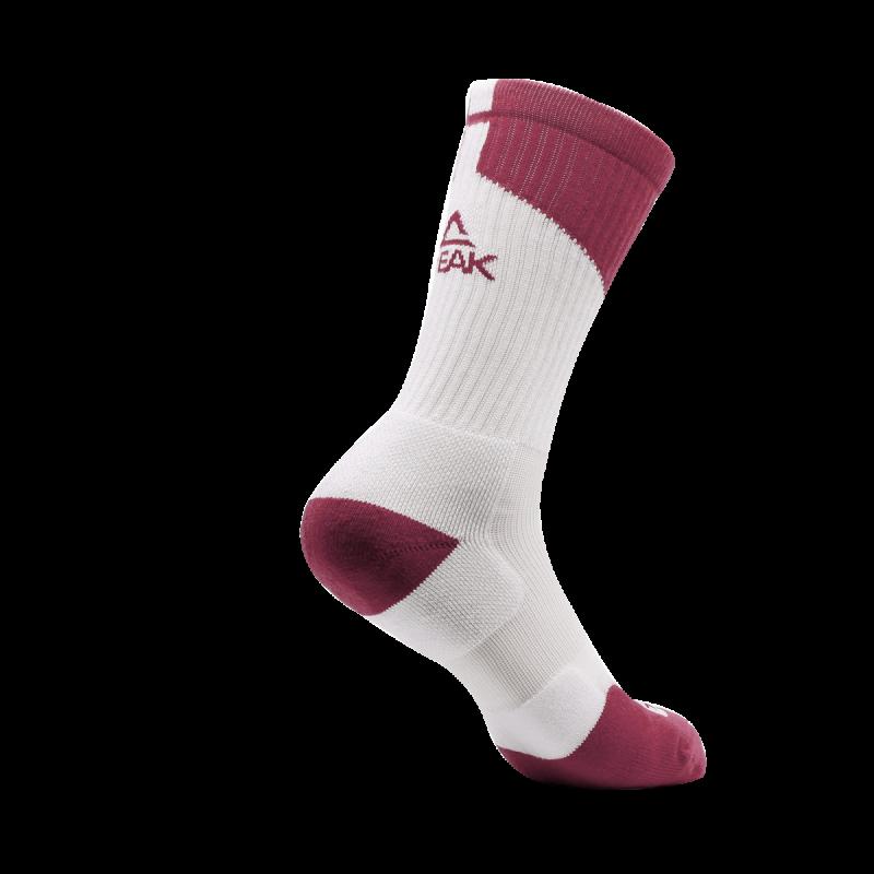sock WW08004 - White/Burgundy
